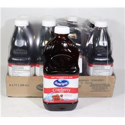 8 BOTTLES OF OCEAN SPRAY CRANBERRY COCKTAIL