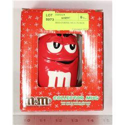 M & M'S RED COFFEE MUG IN BOX