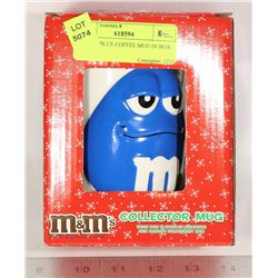 M & M'S BLUE COFFEE MUG IN BOX