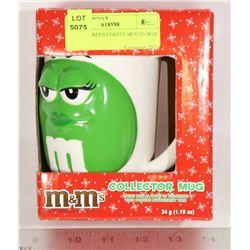 M & M'S GREEN COFFEE MUG IN BOX