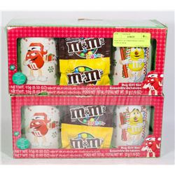 M & M'S 2 X CHRISTMAS COFFEE CUPS IN BOX