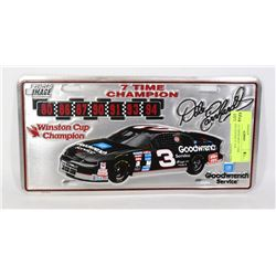 1994 DALE EARNHARDT 7 TIME CHAMPION LICENSE PLATE