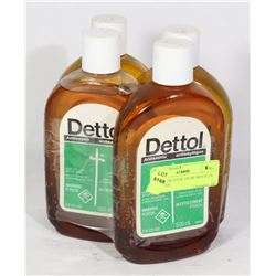 BUNDLE OF FOUR 500 ML BOTTLES OF DETTOL