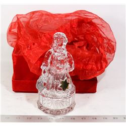 CRYSTAL SANTA TRINKET BOX