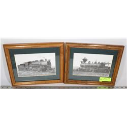 LOT OF 2 TRAIN PICTURES