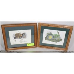 LOT OF 2 TRACTOR PICTURES