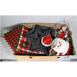 BOX OF ESTATE CHRISTMAS DECOR