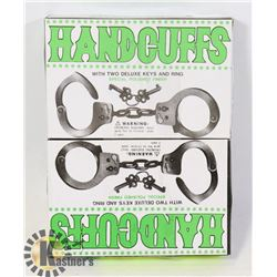 2 SETS OF HANDCUFFS WITH KEY