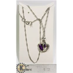 NEW DOUBLE HEART FASHION NECKLACE