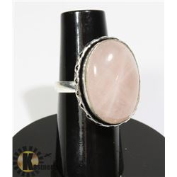 #16-ROSE QUARTZ RING SIZE 6