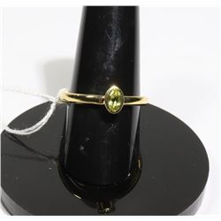 #121-GREEN PERIDOT RING SIZE 6.5