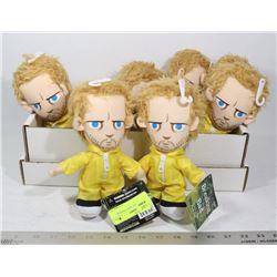 LOT OF 7 JESSE FROM BREAKING BAD PLUSHIES