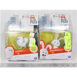 LOT OF TWO SECRET LIFE OF PETS TOYS