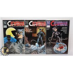 3 VINTAGE CATWOMAN COMICS