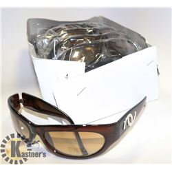 BOX OF BROWN CHANEL STYLED SUNGLASSES