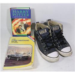 BOX /W MUSTANG SHOP MANUAL, HARRY POTTER & CHUCK