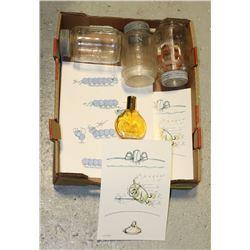 FLAT /W ART, PERFUME & ANTIQUE NABOB JARS