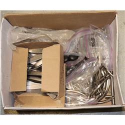 BOX OF HUNDREDS OF CABINET KNOBS AND HANDLES
