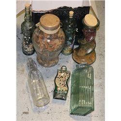 VINTAGE BOTTLES AND GLASSWARE