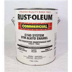 RUST-OLEUM 1 GALLON YELLOW SAFETY PAINT