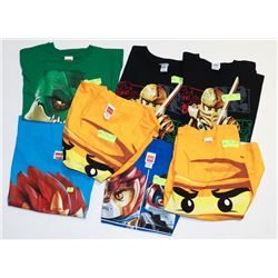 LOT OF 7 ASSORTED SIZE/ STYLE YOUTH LEGO T-SHIRTS