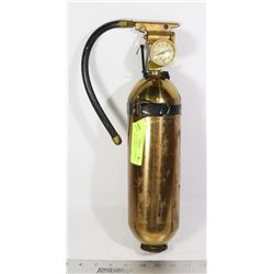 BRASS WALL HANGING ANTIQUE FIRE EXTINGUISHER