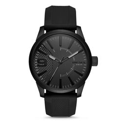 NEW DIESEL BLACK DIAL SILICONE BAND MSRP $225