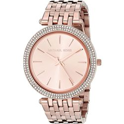 NEW MICHAEL KORS GLITZ ROSE GOLD TONE MSRP $340