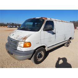 2001 DODGE 2500 Cargo Van