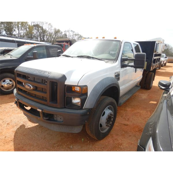 2008 FORD F450 Flatbed Dump Truck