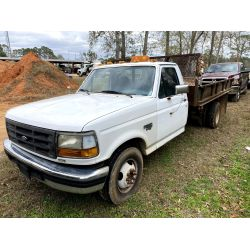1997 FORD F350 Flatbed Dump Truck