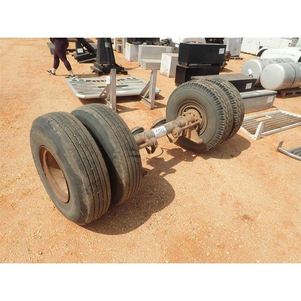 dual wheel trailer axle