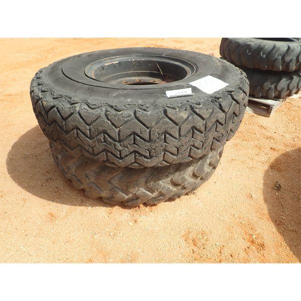 (2) 14.00R24 tires & rims