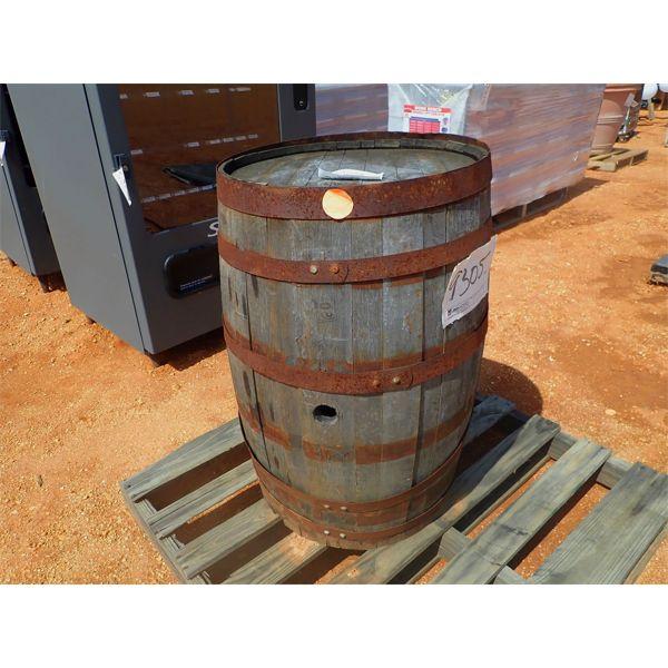 (1) wooden whiskey barrel