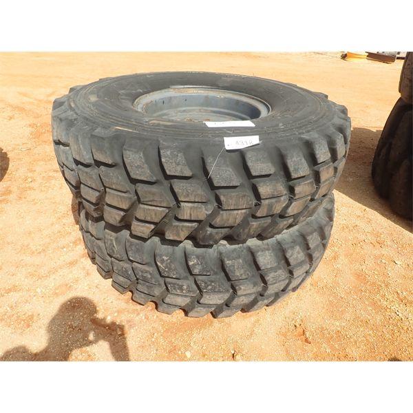 (2) 16.00R24 tires & rims