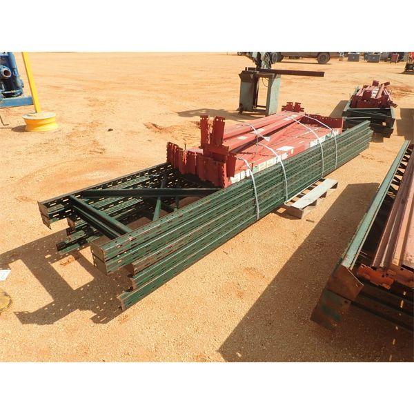 (1) pallet shelving rails w/ support post
