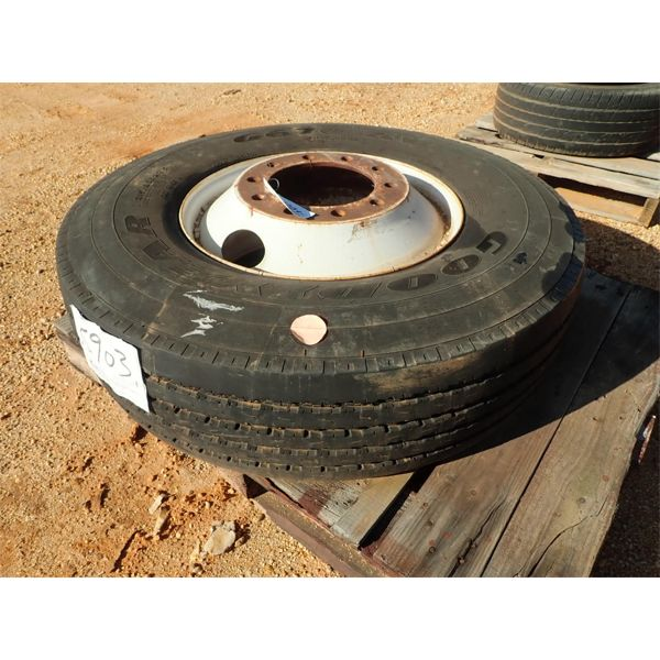 (1) 315/80R22 tire / rim