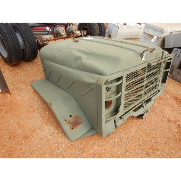 Military truck hood