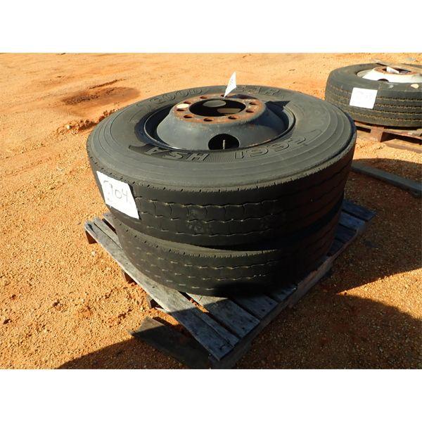(2) 11R2.5 tires w/ rims