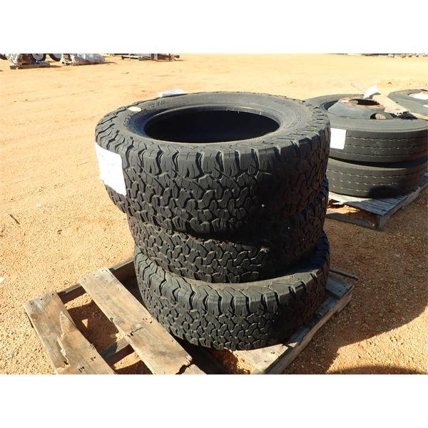 (3) LT235/65R20 tires