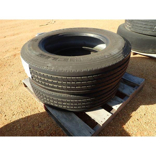 (2) 255/80R22 tires