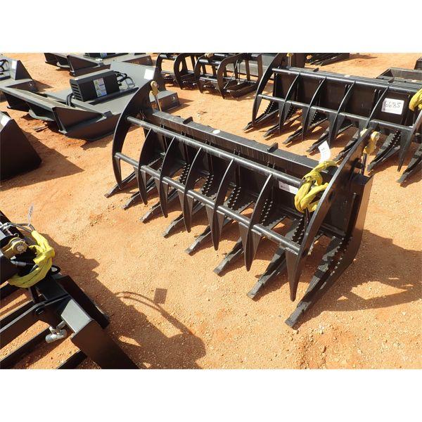 "78"" E series grapple rake, fits skid steer loader"