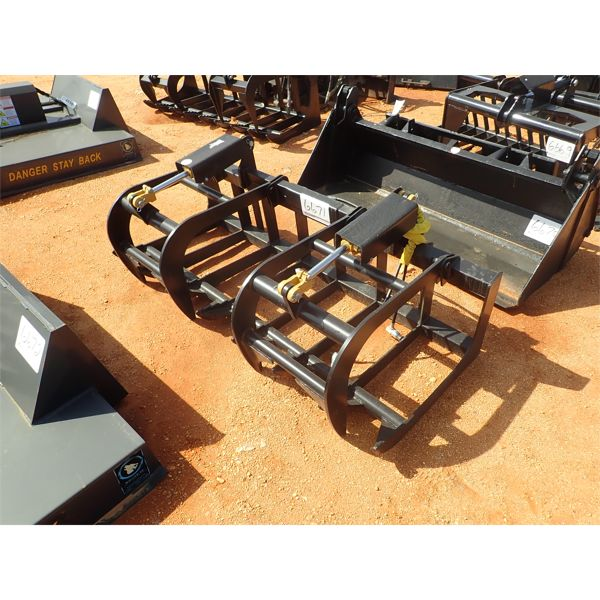 """72"""" E series root grapple, fits skid steer loader"""