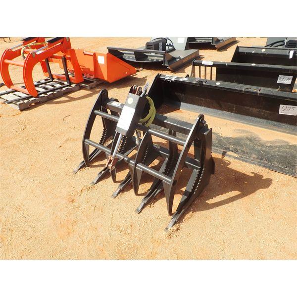 "48"" E series root grapple, fit skid steer loader"