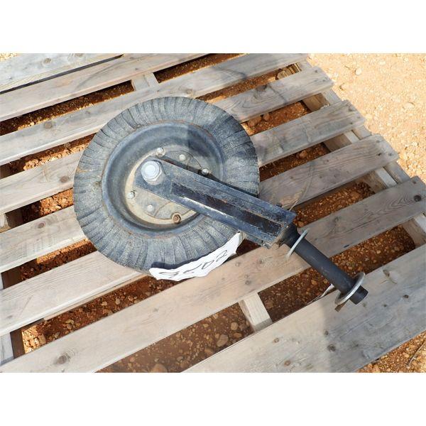 tail wheel for bush hog