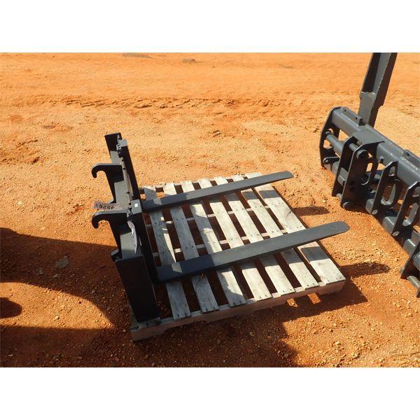 Fork blade attachment, fits wheel loader