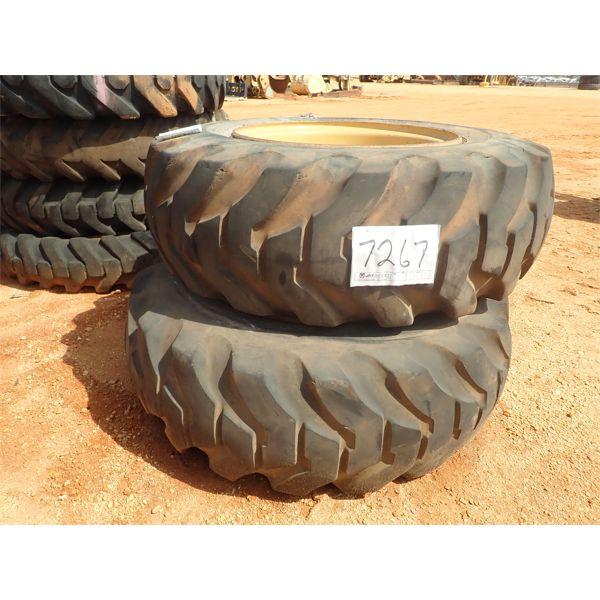 (2) 15.5-25 tires w/rims