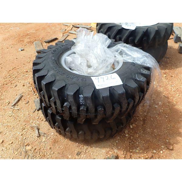 (2) 12.5/80-18 tires w/rims