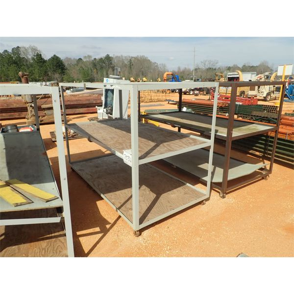 4 x 8 angle iron storage rack, roll around