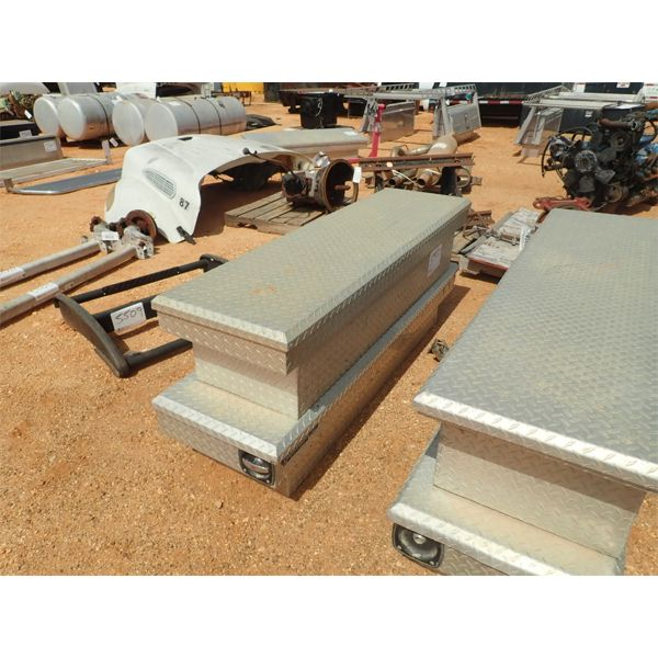 """(2) 69"""" aluminum tool box"""